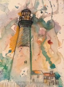 Pensacola Lighthouse copyrighted by Elaine Marie.