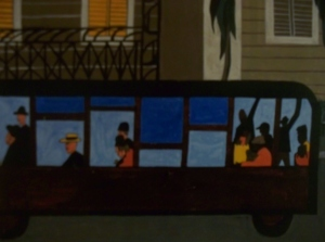 the painting bus by Jacob Lawrence